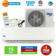 18000 BTU Mini Split Air Conditioner Ductless Heat Pump Inverter 15 SEER 1.5 TON