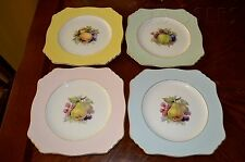 Royal Winton Grimwades Set of 4 Pastel Fruit Square Lunch Plates English China