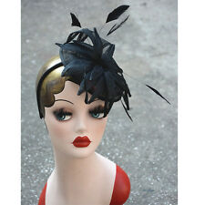 New Women Hat Sinamay Feather Kentucky Derby Party Church Wedding Clip Cap A352