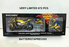 MINICHAMPS VALENTINO ROSSI 1/12 SET YAMAHA + FIGURE 2006 DIRTY WINNER GP GERMANY