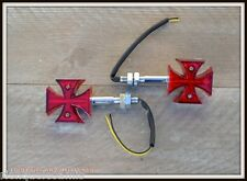 X4pcs = 2 Coppia Intermittenti attraversare da malta maltese cross moto quad