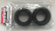 Tamiya 53084 6029 Square Spike Rear Tires (1 Pair) (Top Force/DT02/DF02) NIP
