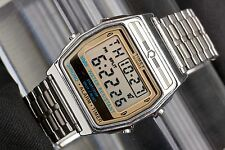 Vintage Mens Timex Quartz Digital Alarm Chronograph Wrist Watch