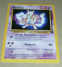 POKEMON BLACK STAR PROMO CARD - #3 MEWTWO (WB MOVIE)