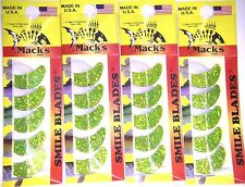 MACK'S SMILE BLADES LURE PARTS 4 PACKS TROLLING BLADES 1.1 65224 CHART SPARKLE