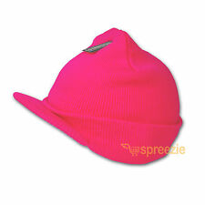 Pink Beanie Visor Knitted Skull Cap Hat Colors Wam Winter Ski Snow Headwear New