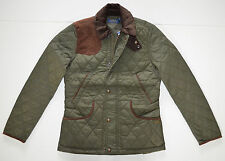 NWT Women's Polo Ralph Lauren Equestrian Quilted Jacket, Green, L, Large