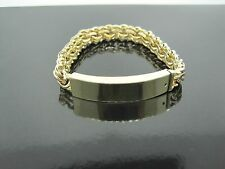Brand New! Hand Made Chino Link Bracelet with Plate and Pin Lock