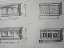 Comptoir style model époque GRAVURE le GARDE-MEUBLE DESTOUCHES XIXéme