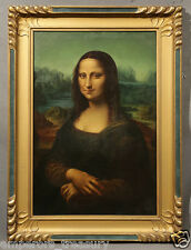 "Stunning 19th Century ""Mona Lisa"" Signed Oil Painting - After Leonardo Da Vinci"