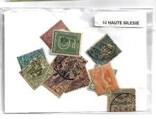 Allemagne - Germany Haute Silésie 10 timbres différents