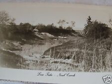 RPPC LOW TIDE ~ NOEL CREEK TRAILER ON BANK & BOAT IN MUD! REAL PHOTO POSTCARD PC