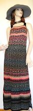 $198~FREE PEOPLE~Size M~Maxi Sweater Dress Jumper~Bib Overall~Rainbow~Long~BoHo