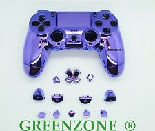 Chrome Purple Full Custom Replacement PS4 Controller Hydro Dipped Shell Mod Kit