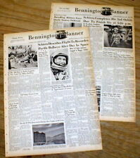 2 1962 newspapers MERCURY ASTRONAUT in SPACE Wally Schirra orbits earth 6 times