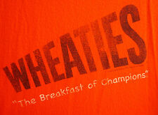 WHEATIES cereal med T shirt Breakfast Champions distressed tee General Mills 06