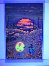 Vintage 1972 Blacklight Poster TOMORROW'S GARDEN Psychedelic Mini 17x11 NOS RARE