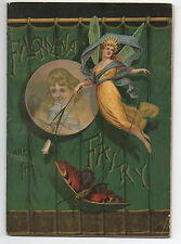 "1882 Color Domestic Sewing Machine Booklet "" Filomena & the Fairy ""  Great Ads"