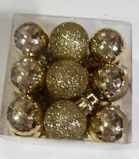 27 GOLD GLITTER MULTIFACETED 1 IN VALENTINE DAY CHRISTMAS ORNAMENTS DECORATION