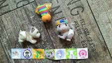 ***Katze Hund Biene+7 Aufkleber***- 3 süße Figuren zum Spielen - Geburtstag
