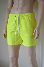 Abercrombie & Fitch Classic Board Swim Shorts Highlighter Yellow Drawstring M