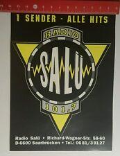 Aufkleber/Sticker: Radio Salü Saarbrücken 1 Sender alle Hits (21071659)