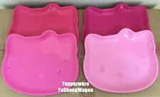 Authentic Tupperware Hello Kitty Plates Set (4 pieces)