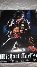 MICHAEL JACKSON OFFICIAL LONDON CO2 BAD TOUR LIVE POSTER USA NO PROMO CD MINT
