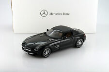 MERCEDES-BENZ SLS AMG ROADSTER Obsidian Nero metallizzato 1:18 NOREV MB