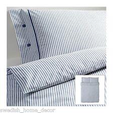 IKEA BLUE Classic Ticking Stripe Cottage Duvet Quilt Cover Full Queen Nyponros