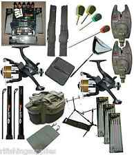COMPLETE CARP FISHING SET UP + LOADED TACKLE BOX ARTIFICIAL BAIT BREAD SHRIMP