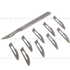 10pcs #23 Carbon Steel Surgical Scalpel Blades PCB Dissecting Tool+1pc #4 Handle