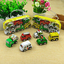 6Pcs Truck Vehicle Mini Pull Back Alloy Car Model Kids Children Xmas Toy Gift