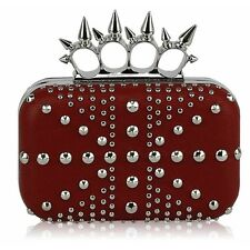 LeahWard Women's Skull Detail Ring Clutch Evening Knuckle Rings Evening Bag For
