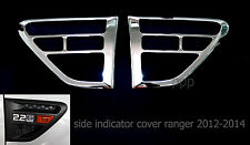 CHROME SIDE VENT INDICATOR COVER TRIM FOR FORD RANGER PX T6 XLT 2012 2013 2014