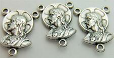 MRT 3 Sacred Heart Madonna & Child Rosary Centerpiece Part Silver Plate Italy
