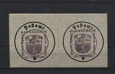 Lokal Bad Nauheim 6 F Type I (2) ohne Signum Plattenfehler postfrisch (B06157)