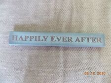 HAPPILY EVER AFTER  Country Primitive Style Wood Home Decor Sign NEW
