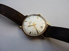VINTAGE 1974 9CT GOLD MARVIN MECHANICAL HAND-WINDING GENTS WATCH GC WORKS