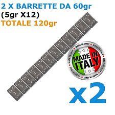 Pesi adesivi per equilibratura cerchi IN LEGA  2X 60gr Contrappesi NON CINESI!!!