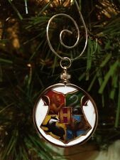 Harry Potter Hogwarts Crest doublesided Silver Ornament Pottermore White design