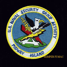 US NAVAL SECURITY GROUP ACTIVITY MIDWAY ISLAND NAVSECGRUACT PATCH PIN UP NAVY