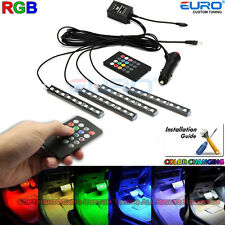 Full 7Color-change LED Interior Car Underglow Dash Foot Floor Strip Accent Light
