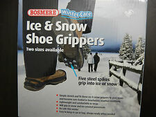 Ice Snow Grips Black Over Shoe Studded Anti Slip Snow Shoe Grippers Steel Spikes
