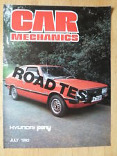 HYUNDAI PONY 1982 UK Mkt Road Test brochure - Car Mechanics