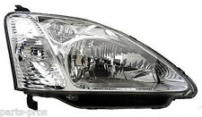 New Replacement Headlight Assembly RH / FOR 2002-03 HONDA CIVIC HATCHBACK