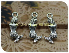 Free shipping 50 PC alloy lovely delicate little mermaid pendant