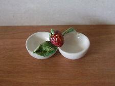 Saliére et poivriére en coupelle déco d'antan porcelaine