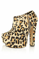 New with box TOPSHOP ARISTOCRAT superhigh boots UK 4 in True Leopard