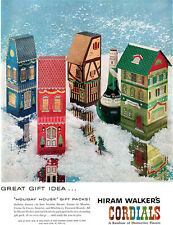 Hiram Walker's Cordials in Holiday House Gift Packs RAINBOW OF FLAVORS 1959 Ad